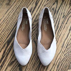 Toms Jutti Ballet Flat Taupe New